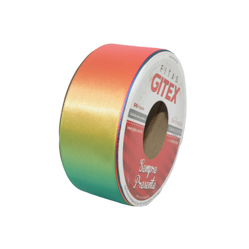 Fita de Cetim Colorida Arco Iris Ref 4700 38mm - Gitex
