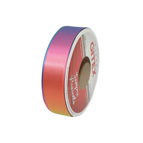 Fita de Cetim Colorida Arco Iris Ref 4700 23mm - Gitex